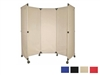Portable Folding Wall Divider Partition on Wheels