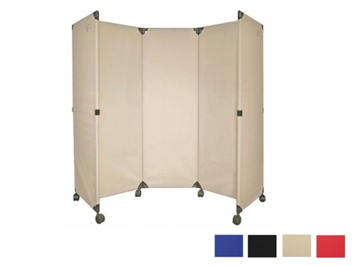 room divider on wheels