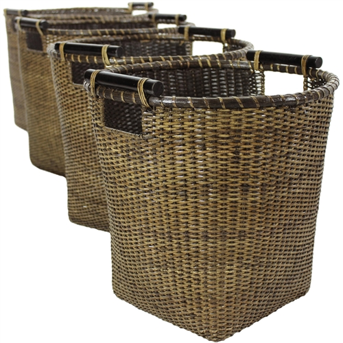 rattan basket small from storage box.htm rattan tall storage basket   set of 4   antique finish  rattan tall storage basket   set of 4