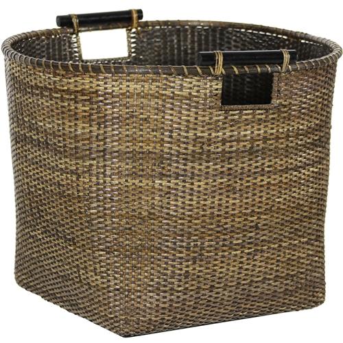 Rattan Tall Storage Basket Set Of 4 Antique Finish
