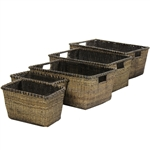 Set of 5 Space Saver Ratan Storage Baskets
