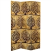 6 ft. Tall Gold Leaf Orchard Canvas Room Divider