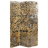 6 ft. Tall Flowering Gold Canvas Room Divider
