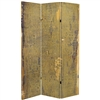 6 ft. Tall Olive Prairie Canvas Room Divider