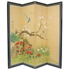 6ft Tall Birds & Flowers Decorative Folding Screen