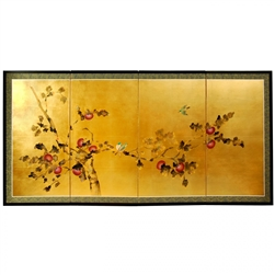2ft & 3ft Tall Gold Leaf Cherry Blossom Silk Screen