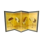 3ft Tall Asian/Oriental Decorative Folding Screen