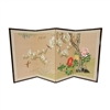 3ft Tall Fly Away Little Bird Asian Folding Screen