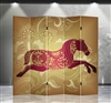 6ft Tall Double Sided Horse of Luck (5 Panels)