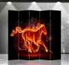 6ft Tall Double Sided Flaming Stallion (5 Panels)