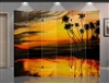 6ft Tall Double Sided Palm Trees Sunset (6 Panels)