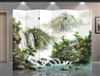6ft Tall Double Sided Picturesque Mountains & Waterfall (6 Panels)
