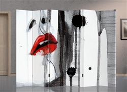 6ft Tall Double Sided Passionate Lips (6 panels)