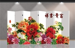 6ft Tall Double Sided Colorful Flowers (8 Panels)