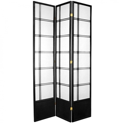 7 ft. Tall Double Cross Shoji Screen Room Divider (more panels & finishes)