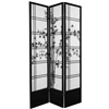 7 ft. Tall Double Cross Bamboo Tree Shoji Screen Room Divider (more panels & finishes)