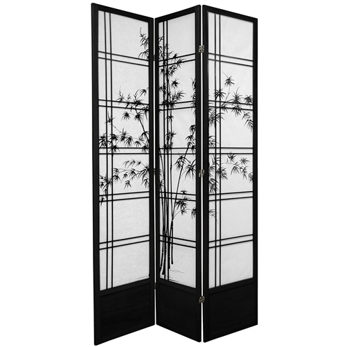 7 ft Tall Double Cross Bamboo Tree Shoji Screen Room Divider more