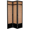 7 ft. Tall Jute Shoji Room Divider Screen (more panels & finishes)