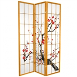 6 ft. Tall Cherry Blossom Shoji Screen (more panels & finishes available)