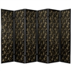 6 ft. Tall Feng Shui w/ Black Fabric Shoji Screen Room Divider