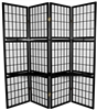 6ft. Tall Window Pane with Shelf Room Divider (more finishes)