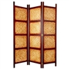 6ft Tall Decorative Amakan Folding Screen
