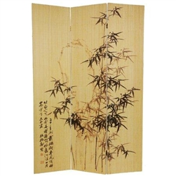 6ft Tall Frameless Bamboo Folding Screen