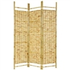 6ft Tall Burn Bamboo Decorative Shoji Folding Screen
