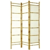 6ft Tall Burn Bamboo with Rice Paper Decorative Screen