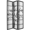 6 ft. Tall Double Cross Bamboo Tree Shoji Screen Divider(more finishes & panels available)