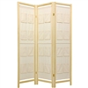 6ft Tall Storage Pockets Room Divider Screen