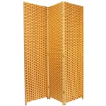 6 ft. Tall Two Tone Natural Fiber Room Divider Screen (more panels)