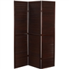 6ft Tall Double Venetian Folding Screen Room Partition in Walnut