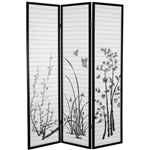 6ft Tall Bamboo Room Divider Folding Screen Partition