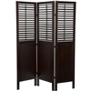 6ft Tall New Amsterdam Walnut Finish Shutter Room Divider Screen