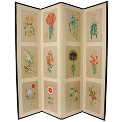 6 ft. Tall  Small Flowers Folding Screen