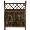 Asian Dark Stain Wood & Bamboo Garden Gate