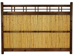 Asian Bamboo Kumo Fence 4 ft. x 5 ½ ft.