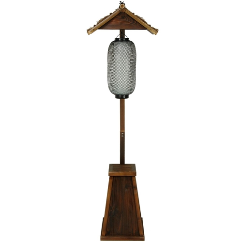 Light Pole Japan: Bamboo Shinto Lantern Stand
