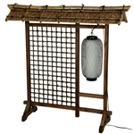 Bamboo Lantern Room Divider with Roof- 4ft Tall