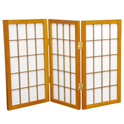 2 ft. Tall Desktop Window Pane Shoji Privacy Screen (more panels) & finishes)