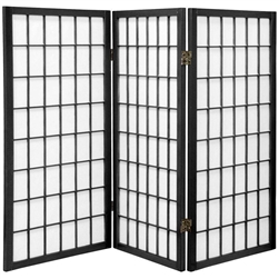 3 ft. Short Window Pane Folding Screen Divider (more panels & finishes)