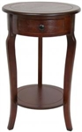 "26"" Classic Round End Table w/ Drawer"