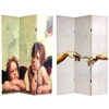 6 ft. Tall Double Sided Cherubs Canvas Room Divider