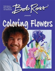 New! Bob Ross Presents Coloring Flowers---Coloring Book