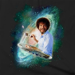 Just Arrived! T-Shirt: Bob Ross Black Galaxy Men's Cut