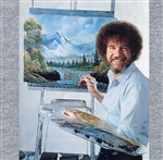 T-Shirt: Bob Ross Grey Photo T-Shirt, Men's Cut