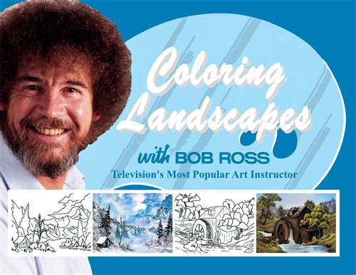 Coloring landscapes with bob ross coloring book voltagebd Gallery