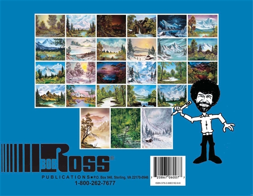 New Coloring Landscapes With Bob Ross Book