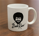 Bob Ross Small White Mug